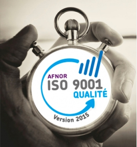 Certification ISO9001 version 2015